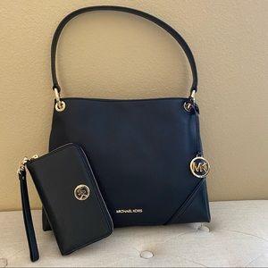 New Michael Kors Nicole shoulder Bag $ wallet
